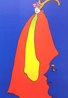 Prince of Blue AP 1973  Limited Edition Print by Peter Max