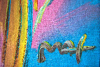 Angel With Heart 2006 34x30 Original Painting by Peter Max - 2