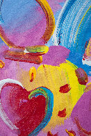 Angel With Heart 2006 34x30 Original Painting by Peter Max - 5