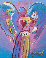 Angel With Heart 2006 34x30 Original Painting by Peter Max - 0