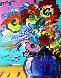 Vase of Flowers Series XVII Ver. II 2014 31x27 Original Painting by Peter Max - 0