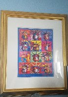 Liberty And Justice For All 2001 24x18 Works on Paper (not prints) by Peter Max - 2