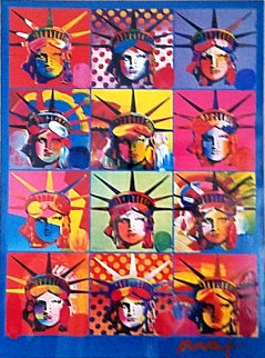 Liberty And Justice For All 2001 Works on Paper (not prints) by Peter Max
