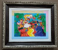 Flower Lady 2014 24x31 Works on Paper (not prints) by Peter Max - 1