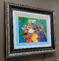 Flower Lady 2014 24x31 Works on Paper (not prints) by Peter Max - 2