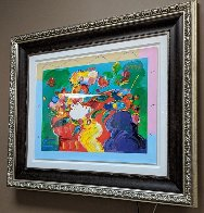 Flower Lady 2014 24x31 Works on Paper (not prints) by Peter Max - 3
