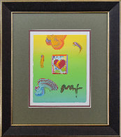 Heart Unique 22x20 Works on Paper (not prints) by Peter Max - 1