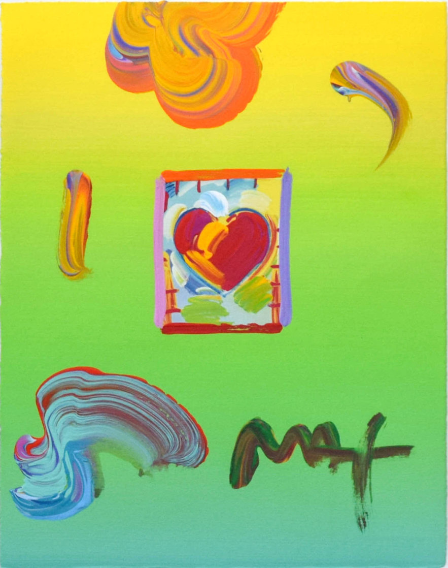 Heart Unique 22x20 Works on Paper (not prints) by Peter Max