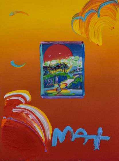 Without Borders Unique 21x19 Works on Paper (not prints) by Peter Max