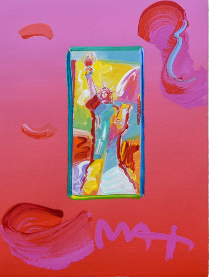 Liberty Unique 21x19 Works on Paper (not prints) by Peter Max