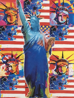 God Bless America 2002 Limited Edition Print - Peter Max