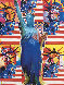 God Bless America 2002 Limited Edition Print by Peter Max - 0