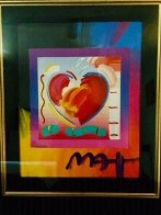 Heart on Blends Unique 2006 23x21 Original Painting by Peter Max - 2