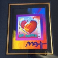 Heart on Blends Unique 2006 23x21 Original Painting by Peter Max - 1