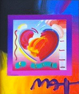 Heart on Blends Unique 2006 23x21 Original Painting by Peter Max