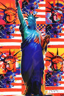 God Bless America Limited Edition Print by Peter Max - 0