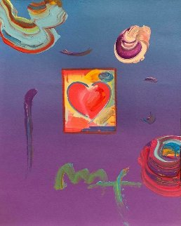 Heart Unique 11x8 Works on Paper (not prints) - Peter Max