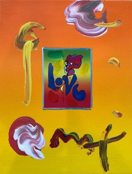 Love Unique 11x8 Works on Paper (not prints) by Peter Max