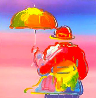 Umbrella Man 2016 Limited Edition Print - Peter Max