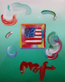 Flag Unique 2009 8x11 Unique Works on Paper (not prints) by Peter Max