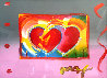 Two Hearts on Blends: Harmony And Love   Unique  2006  27x31 Works on Paper (not prints) by Peter Max - 0