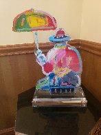 Original Umbrella Man Acrylic Sculpture 20 in  Sculpture by Peter Max - 1