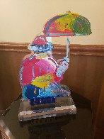 Original Umbrella Man Acrylic Sculpture 20 in  Sculpture by Peter Max - 5