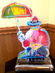 Original Umbrella Man Acrylic Sculpture 20 in  Sculpture - Peter Max