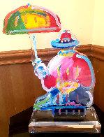 Original Umbrella Man Acrylic Sculpture 20 in  Sculpture by Peter Max - 0