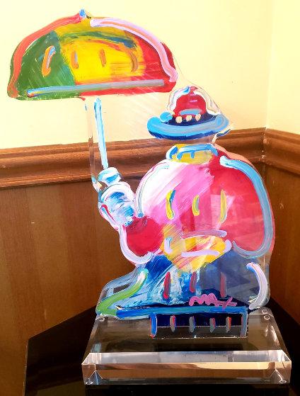 Original Umbrella Man Acrylic Sculpture 20 in  by Peter Max