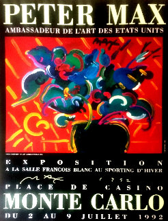 Monte Carlo Poster 1992 HS Limited Edition Print by Peter Max