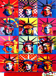 Liberty And Justice For All 2001 24x18 Works on Paper (not prints) by Peter Max