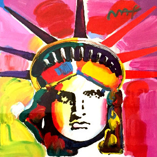Liberty Head 2014 42x42 Works on Paper (not prints) by Peter Max
