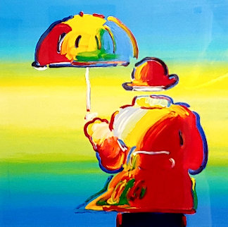 Umbrella Man 2015 30x30 Limited Edition Print by Peter Max