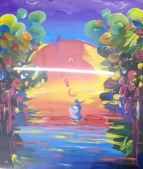 Better World Unique 2000 35x30 Works on Paper (not prints) by Peter Max