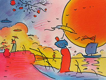 Two Sages in Sun 2003 Limited Edition Print - Peter Max