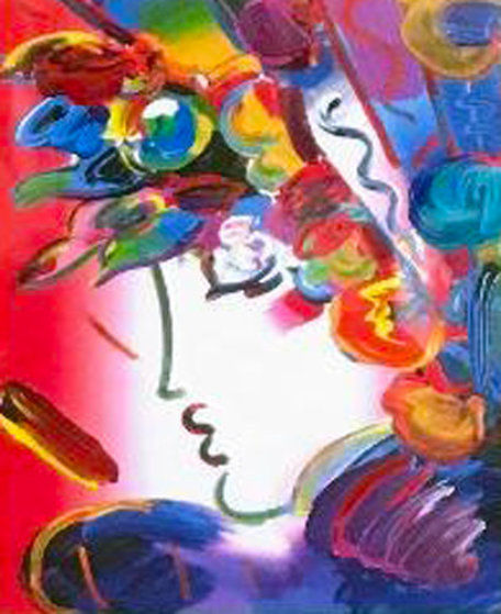 Blushing Beauty 2006 12x10 Works on Paper (not prints) by Peter Max