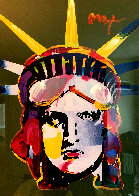 Liberty Head 45x35 Super Huge Works on Paper (not prints) by Peter Max - 0
