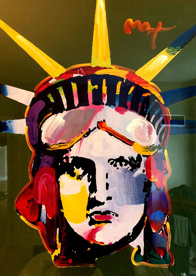 Liberty Head 45x35 Huge Works on Paper (not prints) by Peter Max