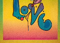 Love on Blends Unique 2006 10x8 Works on Paper (not prints) by Peter Max - 3
