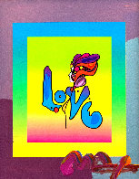 Love on Blends Unique 2006 10x8 Works on Paper (not prints) by Peter Max - 0