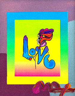Love on Blends Unique 2006 10x8 Works on Paper (not prints) by Peter Max