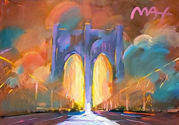 Brooklyn Bridge 2016 28x34 Original Painting by Peter Max