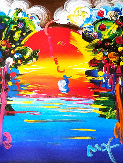 Better World III 1999 Embellished Works on Paper (not prints) by Peter Max