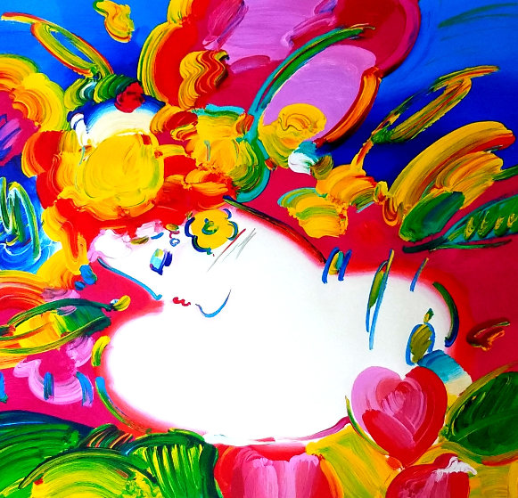Flower Blossom Lady 2012 Limited Edition Print by Peter Max