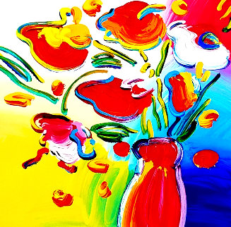 Vase of Flowers 2012 Limited Edition Print by Peter Max