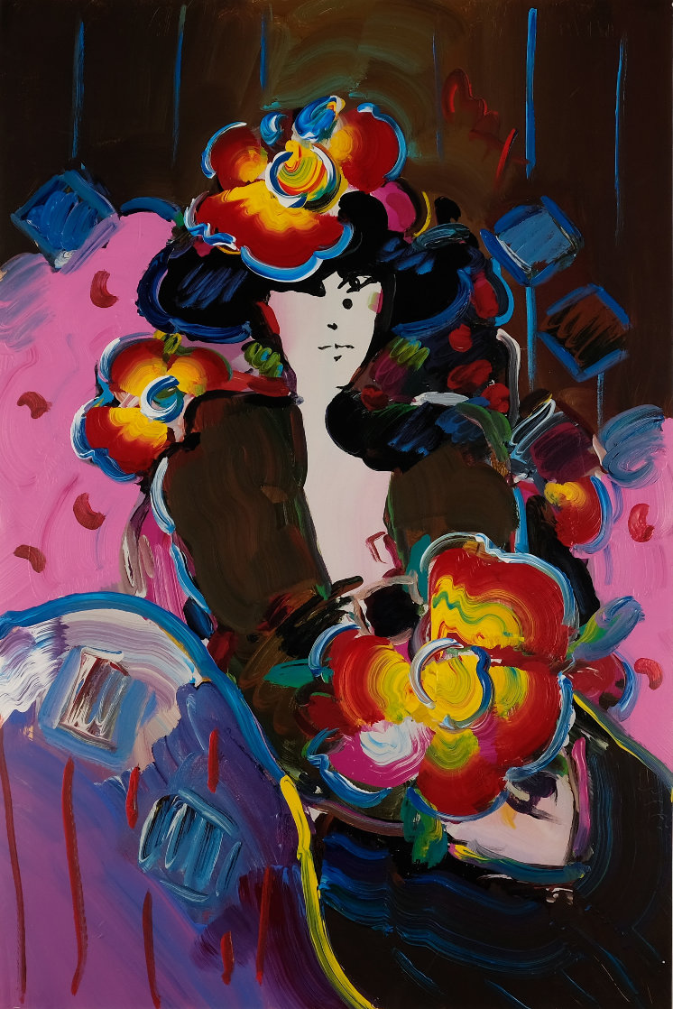 Brown Lady 1997 36x24 Works on Paper (not prints) by Peter Max