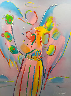 Angel With Heart Limited Edition Print by Peter Max