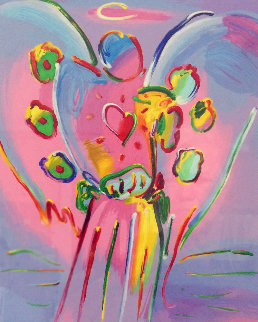 Angel With Heart 2015 Limited Edition Print by Peter Max