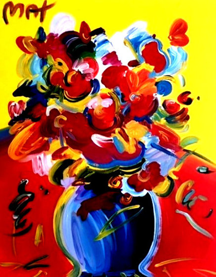 Untitled Still Life 36x24 Original Painting by Peter Max